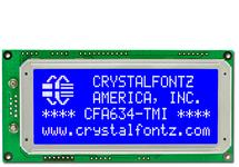 20x4  Serial RS-232 Character LCD CFA634-TMI-KS
