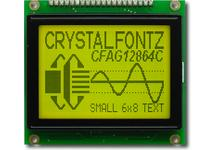 128x64 Sunlight Readable Graphic LCD CFAG12864C-YYH-TN