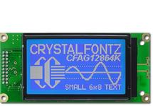 White on Blue 128x64 Graphic LCD CFAG12864K-TMI-TN
