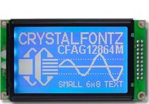 White on Blue 128x64 Parallel Graphic LCD CFAG12864M-TMI-TN