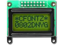 Sunlight Readable 8x2 Character LCD CFAH0802D-NYG-JP