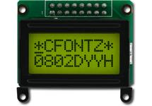 8x2 Sunlight Readable Character LCD CFAH0802D-YYH-JP