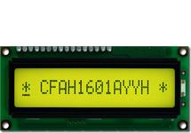 16x1 Sunlight Readable Character LCD CFAH1601A-YYH-JT