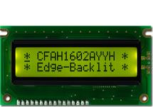 16x2 Sunlight Readable Character LCD CFAH1602A-YYH-JTE