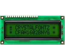 16x2 Sunlight Readable Character LCD CFAH1602B-NYG-JT