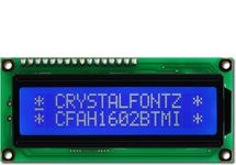 16x2 White on Blue Character LCD CFAH1602B-TMI-JT