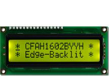 16x2 Yellow-Green Backlit Character LCD CFAH1602B-YYH-JTE