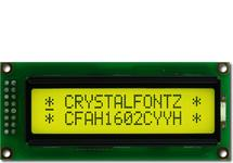Sunlight Readable 16x2 Yellow Character LCD CFAH1602C-YYH-JT