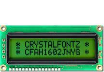16x2 Sunlight Readable Character LCD CFAH1602J-NYG-JT