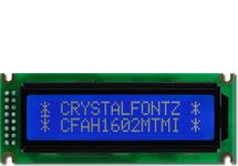White on Blue 16x2 Character LCD CFAH1602M-TMI-ET