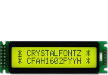 Sunlight Readable 16x2 Character LCD CFAH1602P-YYH-ET