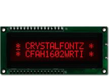 16x2 Parallel Character LCD CFAH1602W-RTI-JP