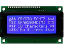 20x4 Character White on Blue LCD CFAH2004D-TMI-ET