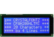 20x4 Character LCD White on Blue CFAH2004L-TMI-JT