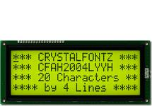 20x4  Parallel Character LCD CFAH2004L-YYH-JT