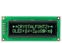 16x2 Green Sunlight Readable Character OLED CFAL1602C-GT