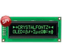 16x2 SPI OLED With Green Characters CFAL1602C-PG