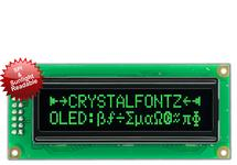16x2 SPI Sunlight Readable Green OLED CFAL1602C-PGT