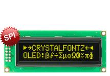 SPI 16x2 Yellow Character OLED CFAL1602C-PY