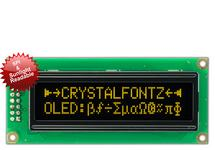 16x2 Yellow Sunlight Readable OLED With SPI CFAL1602C-PYT