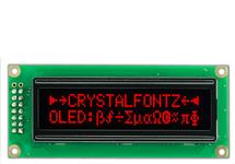 16x2 Red Character OLED CFAL1602C-R
