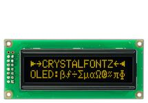 16x2 Yellow Sunlight Readable Character OLED CFAL1602C-YT