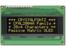20x4  Parallel Character OLED CFAL2004A-Y