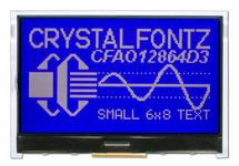 White on Blue 128x64 Graphic LCD CFAO12864D3-TMI