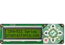 16x2 RS232 Character LCD, Yellow-Green CFA533-YYH-KS