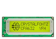 16x2 SPI Character LCD CFA632-YFH-KP
