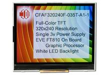 320x240 TFT with EVE Accelerator CFAF320240F-035T-A1-1