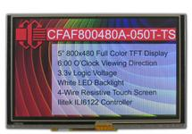 "5"" 800x480 Touch Screen Color TFT CFAF800480A-050T-TS"