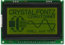 Sunlight Readable 128x64 SPI or Parallel Graphic LCD CFAG12864S-YYH-VT