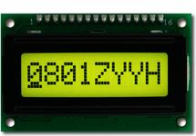 Sunlight Readable 8x1 Character LCD CFAH0801Z-YYH-JP