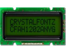 12x2 Sunlight Readable Character LCD CFAH1202A-NYG-JT