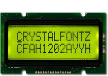 Sunlight Readable 12x2 Character LCD CFAH1202A-YYH-JT