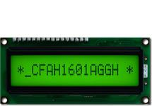 16x1 Sunlight Readable Character LCD CFAH1601A-GGH-JT