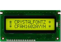 16x2 Sunlight Readable Character LCD CFAH1602A-YYH-JT