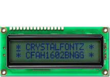 16x2 Sunlight Readable Character LCD CFAH1602B-NGG-JTV