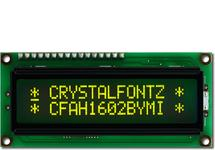 Yellow-green 16x2 Character Display CFAH1602B-YMI-JT