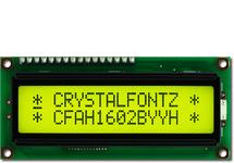 16x2 Backlit Yellow-Green Character LCD CFAH1602B-YYH-JT