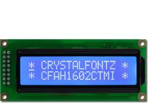 White on Blue 16x2 Character LCD CFAH1602C-TMI-JT