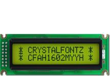 16x2  Parallel Character LCD CFAH1602M-YYH-ET