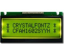 16x2 Black on Yellow LCD CFAH1602S-YYH-ET