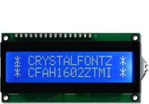 Standard 16x2 White on Blue LCD CFAH1602Z-TMI-ET