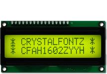 16x2  Parallel Character LCD CFAH1602Z-YYH-ET