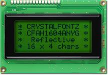 16x4  Parallel Character LCD CFAH1604A-NYG-JT