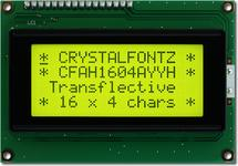 Black on Yellow 16x4 Character LCD CFAH1604A-YYH-JT