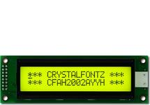 20x2  Parallel Character LCD CFAH2002A-YYH-JT