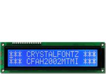 20x2 Character LCD White on Blue CFAH2002M-TMI-ET